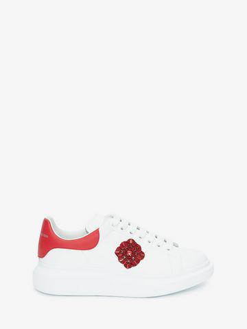Alexander Mcqueen Oversized Sneaker In White/Red