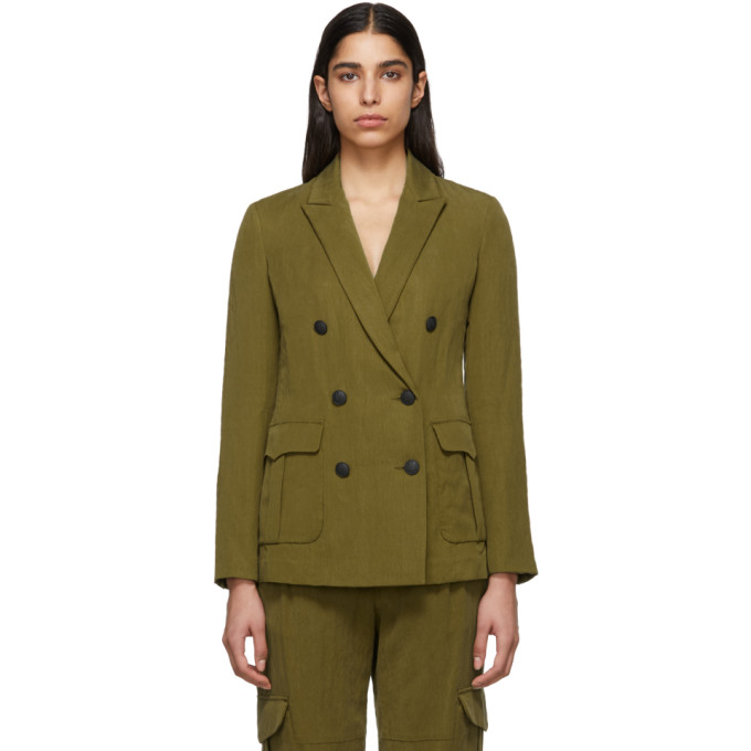 Rag & Bone Rag And Bone Green Nyx Cargo Blazer In 325 Olive