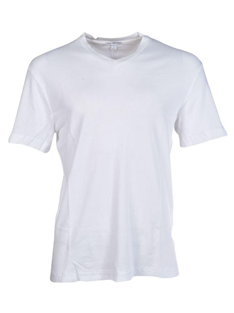 James Perse V-neck T-shirt In White