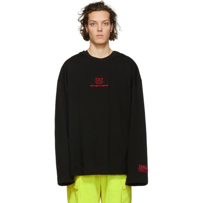 Juun.j Black Embroidered Long Sleeve T-shirt