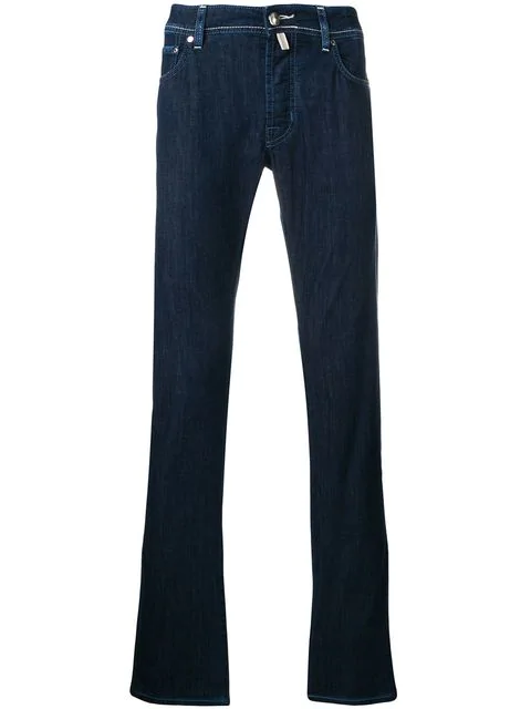 Jacob Cohen Comfort Straight-leg Jeans In Blue