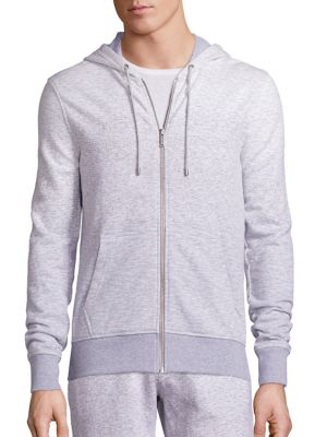Michael Kors DÉgradÉ Loopback Cotton-jersey Zip-up Hoodie In Eggshell