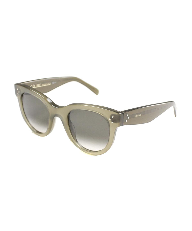 Celine Cat-eye Plastic Sunglasses In Military Green