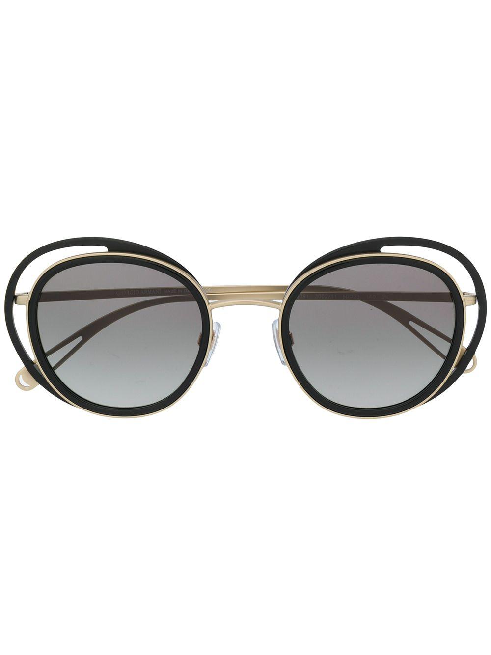 28390f28c9d Giorgio Armani Oversized Sunglasses - Metallic. Farfetch