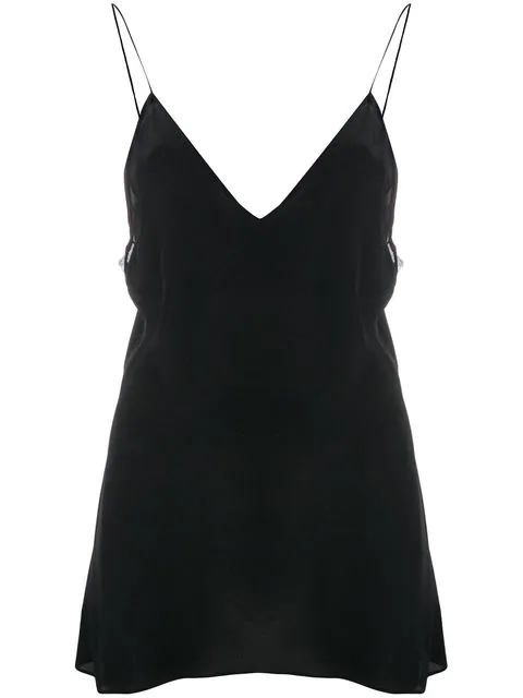 Iro Flared Camisole Top - Black