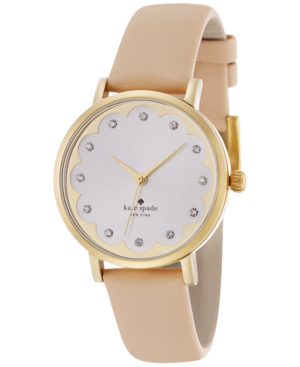 Kate Spade Metro Scallop Vachetta Leather Watch