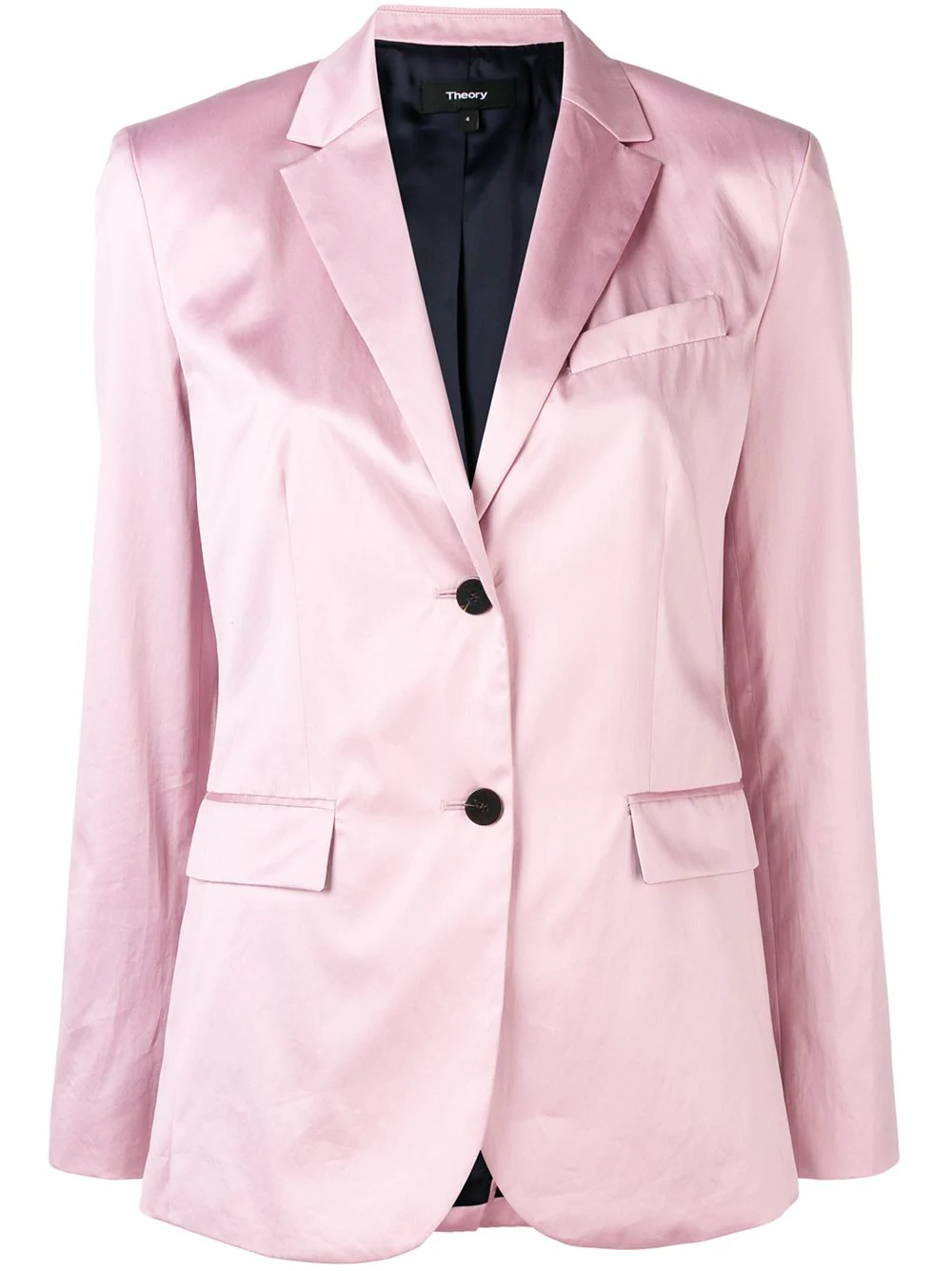 155c0eaf55 Theory Cotton Chintz Classic Blazer In Rose-Pink | ModeSens