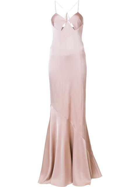 Galvan 'costa Mesa Exclusive' Cut-off Detailing Long Dress