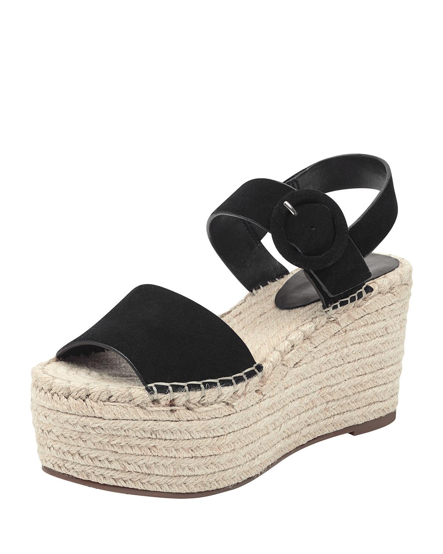 47c4ecda6fe8 Marc Fisher Women s Rex Espadrille Platform Sandals In Black