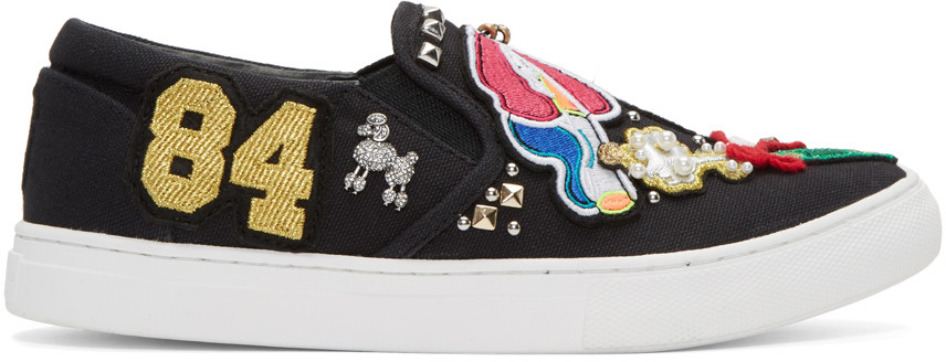 Marc Jacobs Mercer Embellished Slip-on Sneaker (women) In Black