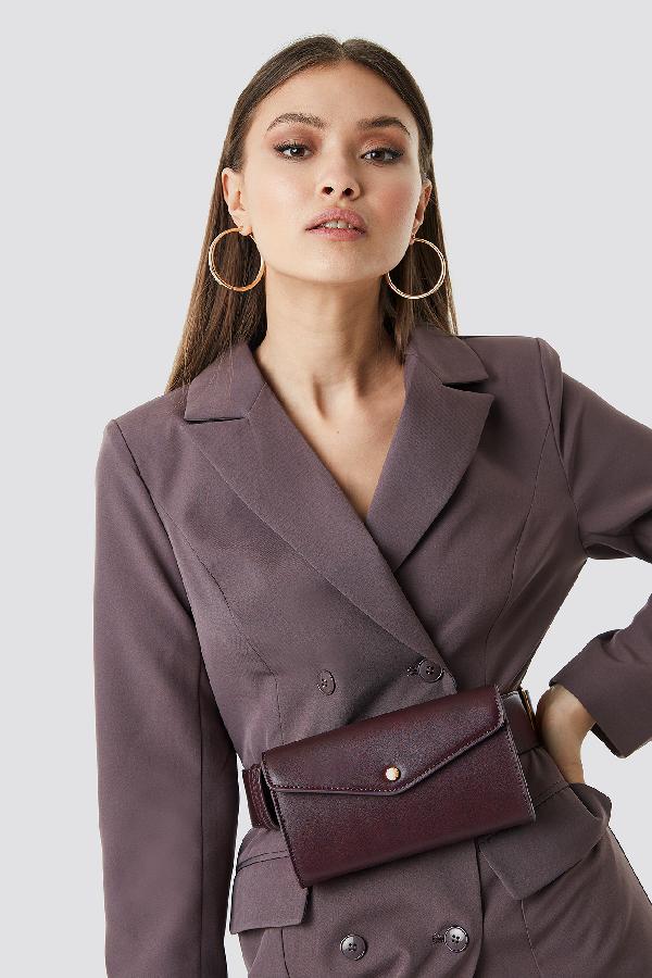 Chloé B X Na-kd Pu Belt Bag - Purple In Brown
