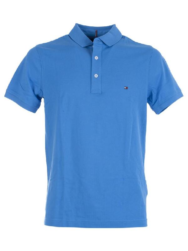 Tommy Hilfiger Slim Fit Polo In Azzurro