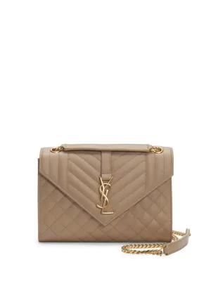 9cf305273f63e3 Saint Laurent Medium Embossed Leather Envelope Bag In Brown | ModeSens