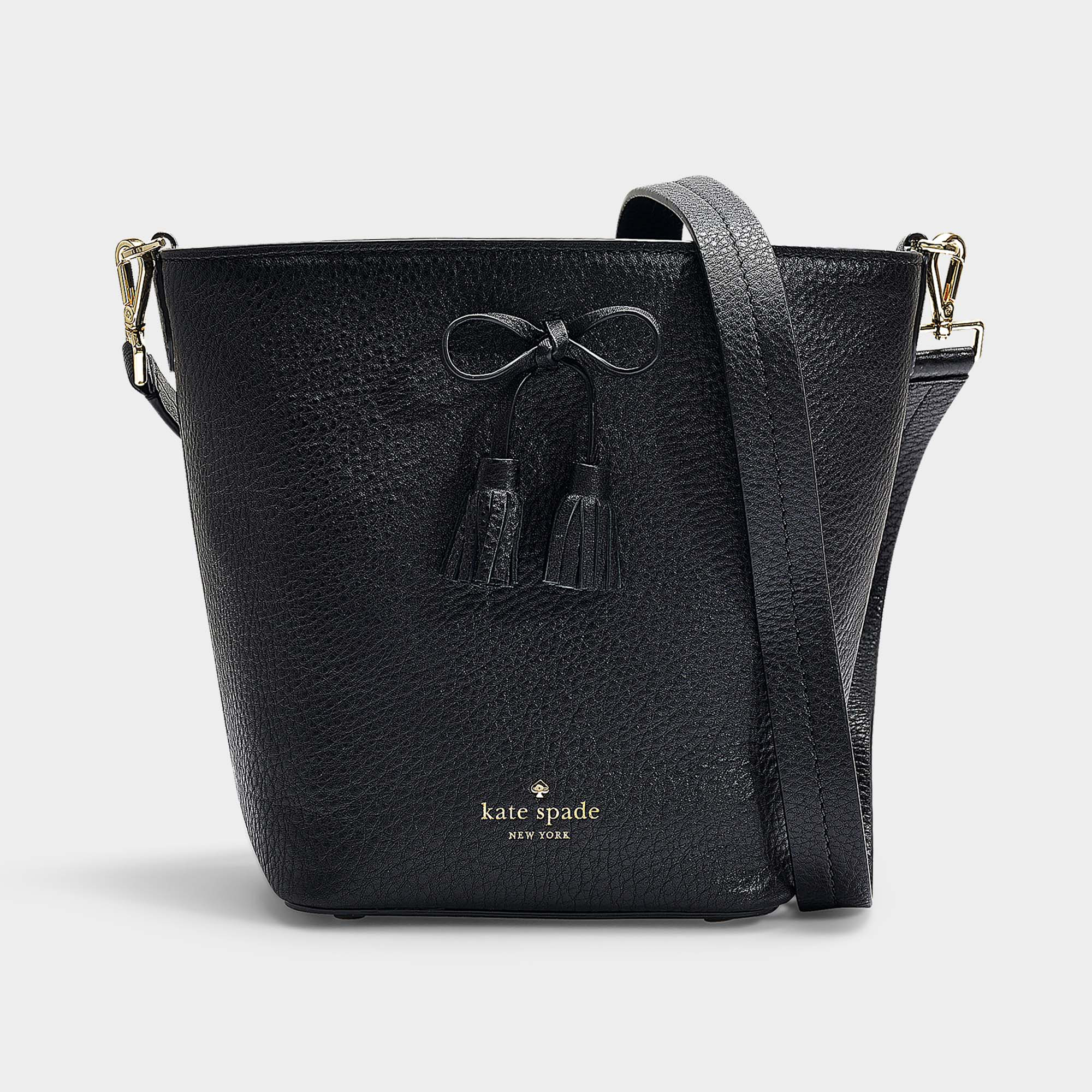 8a1f88900e70 Kate Spade New York | Hayes Street Vanessa Bucket Bag In Black Pebble Le