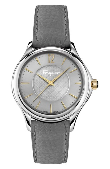Salvatore Ferragamo Time Stainless Steel Automatic Watch, 41mm In Grey/ Silver