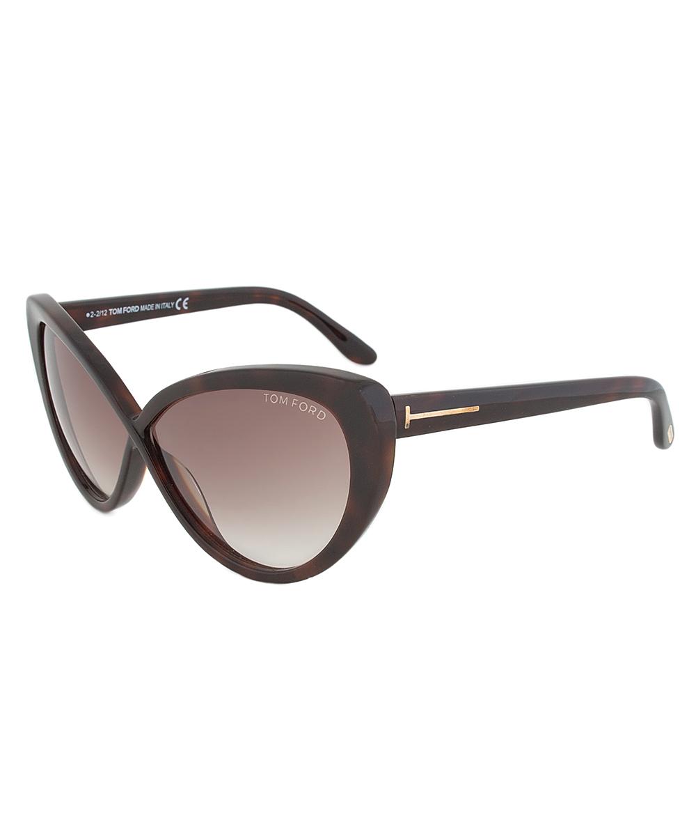 Tom Ford Ft0345/s 52f Gina Tortoise Cateye Sunglasses