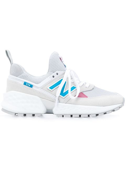 New Balance 574 Suede & Mesh Sneakers In Suede Mesh Arctic Fox Off White