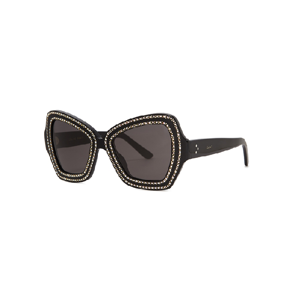 12f1a7e4afd7 Celine 54Mm Butterfly Sunglasses - Black W  Gold Micro Studs