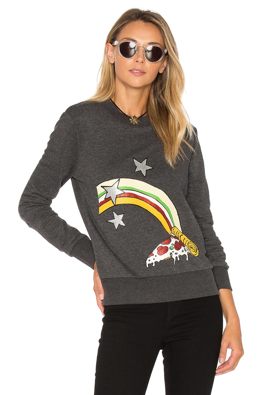 Cheap Monday Win Sweatshirt In Dark Grey Melange