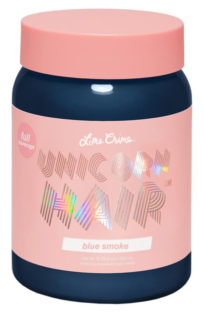 Lime Crime Unicorn Hair Full Coverage Semi-permanent Hair Color In Blue Smoke