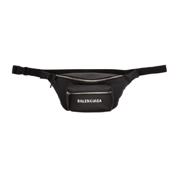 Balenciaga Black Everyday Belt Pack In 1000 Blk/wh