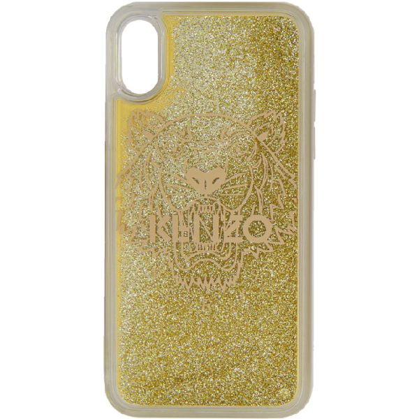 Kenzo Gold Tiger Iphone X/xs Case In Or  Gold