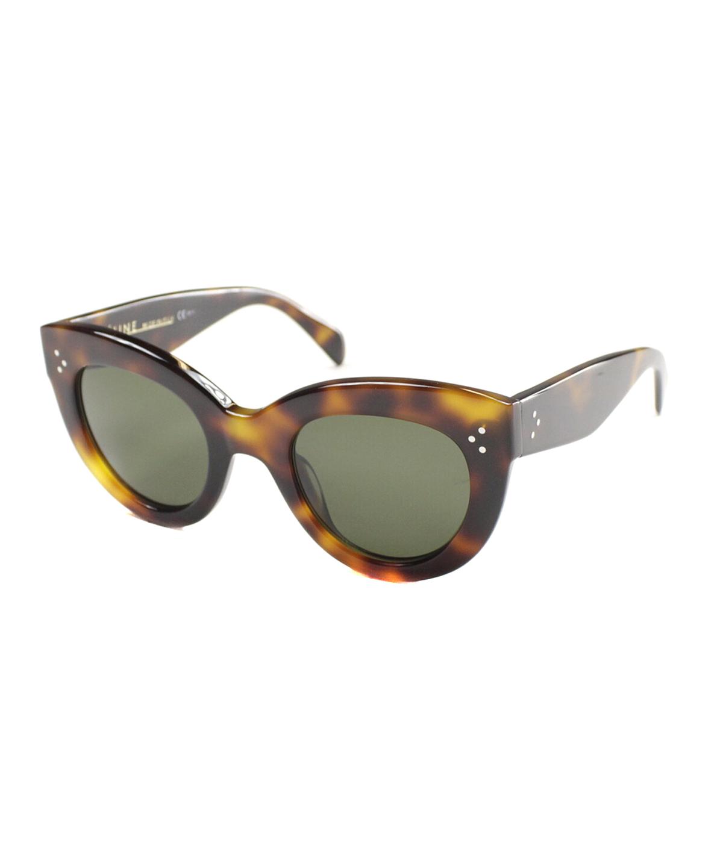 Celine Cat-eye Plastic Sunglasses In Havana