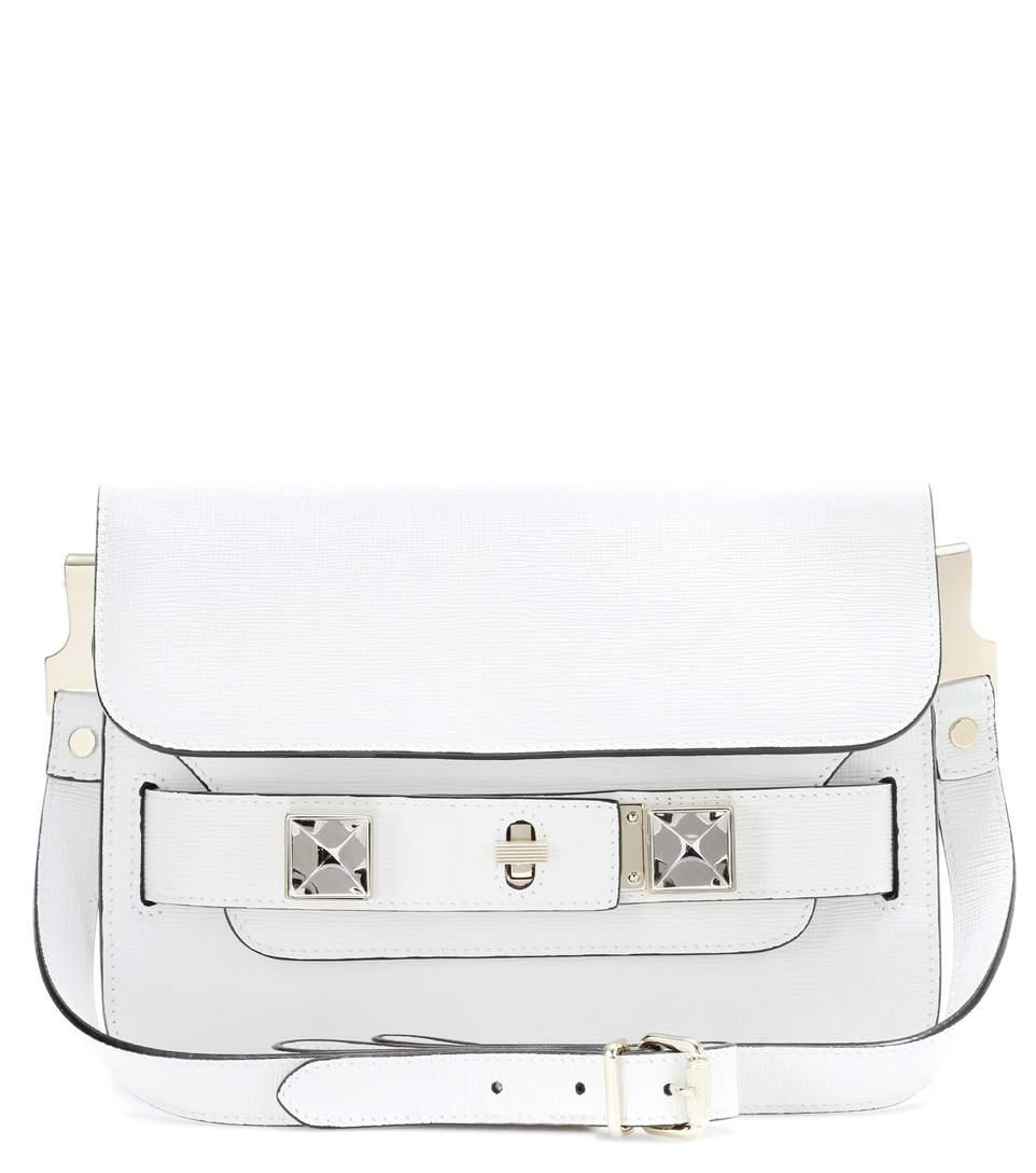 Proenza Schouler Ps11 Mini Classic Leather Shoulder Bag In White