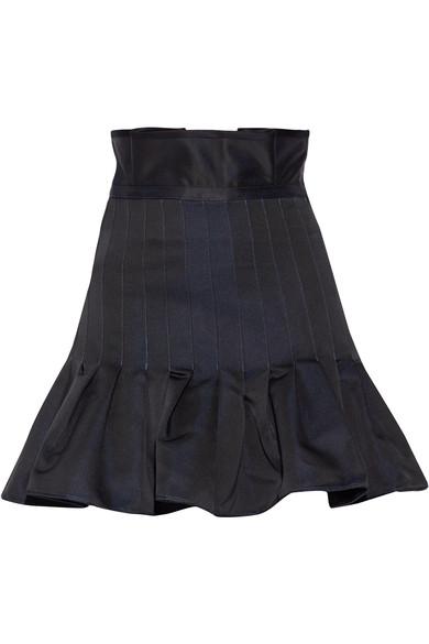 Ellery 'skyward' Pleated Taffeta Peplum Dress In Black