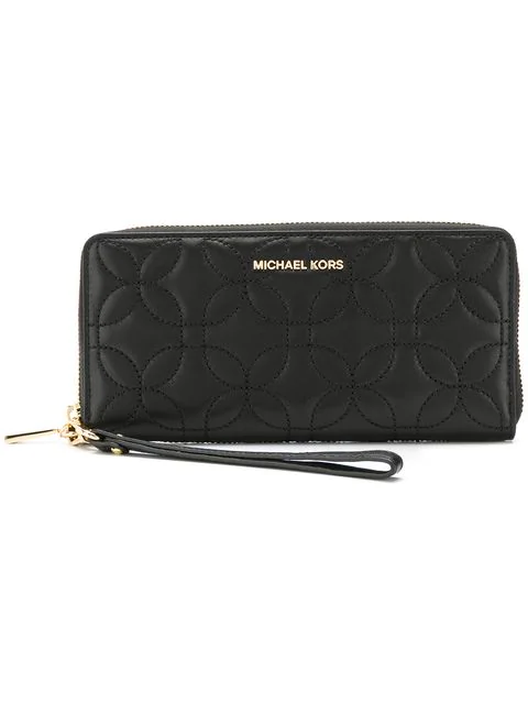 Michael Michael Kors Quilted Wallet In Black