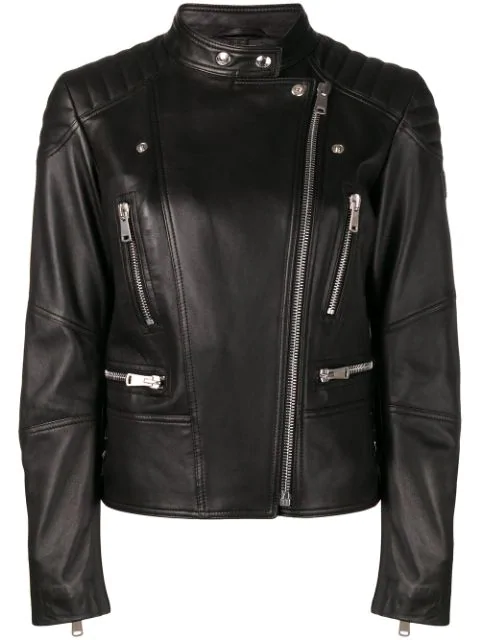 Belstaff Sydney Leather Jacket In Black