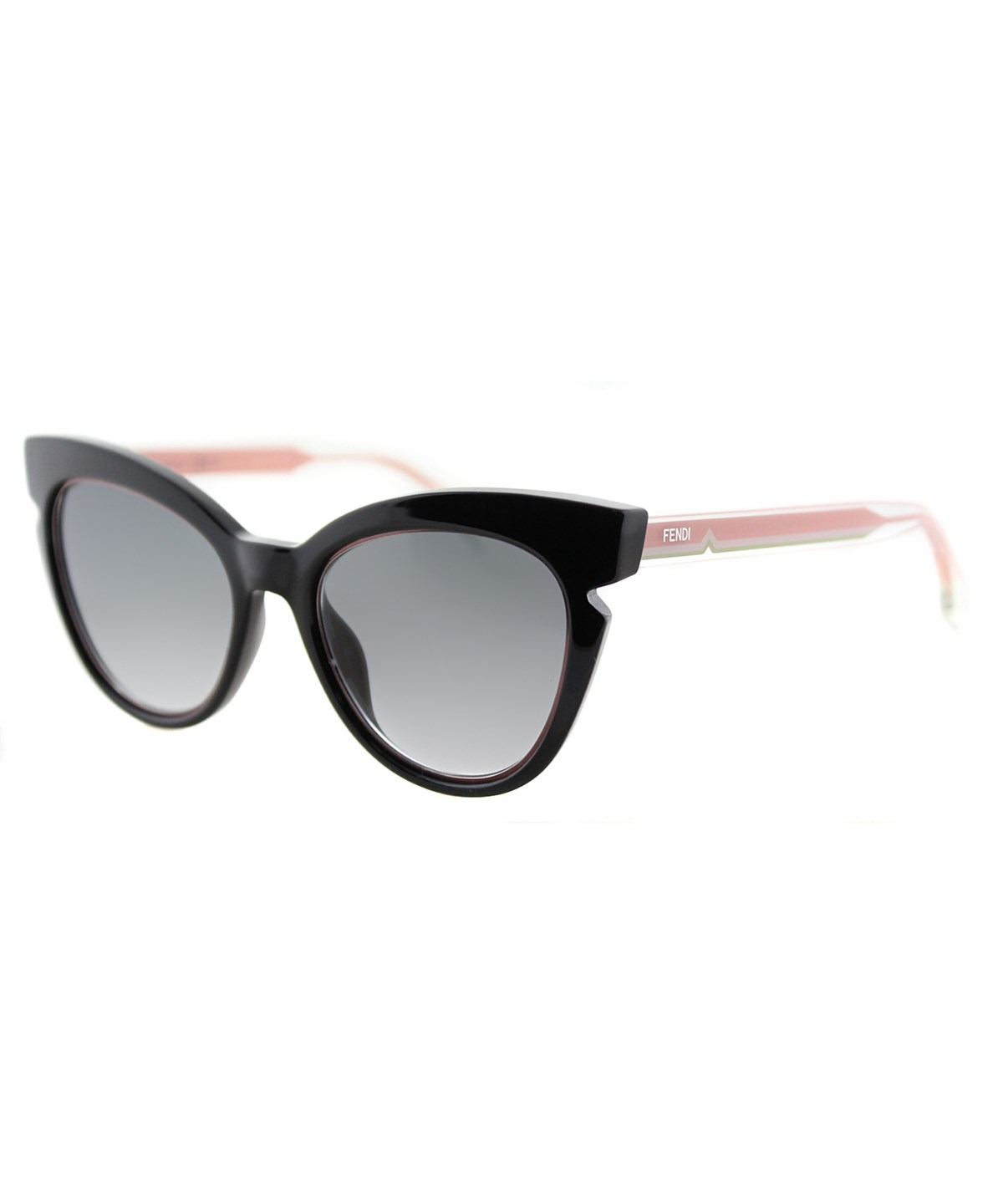 Fendi Lines Cat-eye Plastic Sunglasses In Black And Crystal Pink