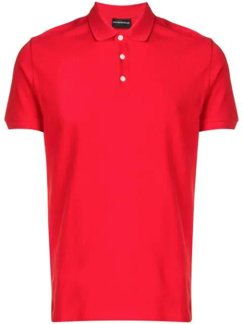 Emporio Armani Klassisches Poloshirt In Red