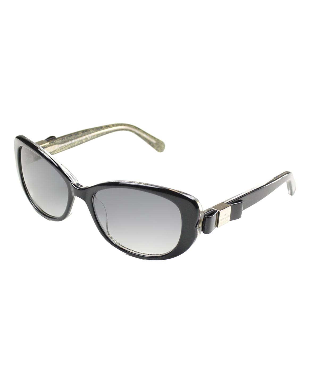 Kate Spade Cat-eye Plastic Sunglasses In Black Glitter
