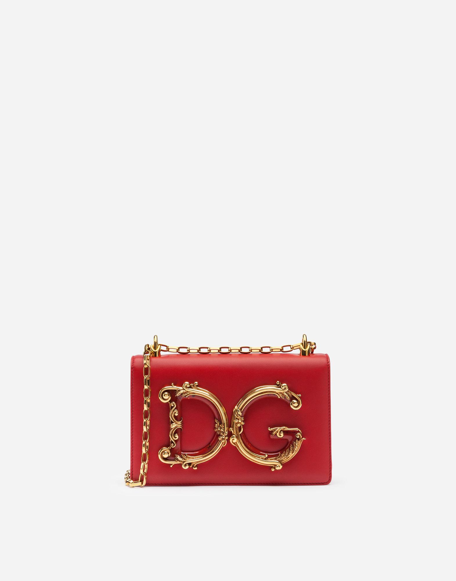 3935e8d628 Dolce   Gabbana Dg Girls Shoulder Bag In Nappa Leather In Red