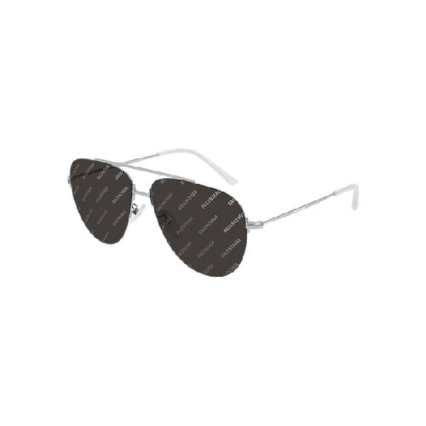 1ea6701a4c12 Balenciaga Men's Lightweight Metal Pilot Aviator Sunglasses In ...