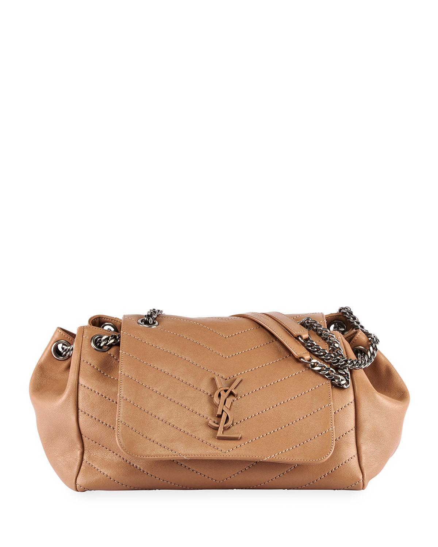 92acda5d1717 Saint Laurent Nolita Large Monogram Ysl Double Chain Shoulder Bag In Light  Brown