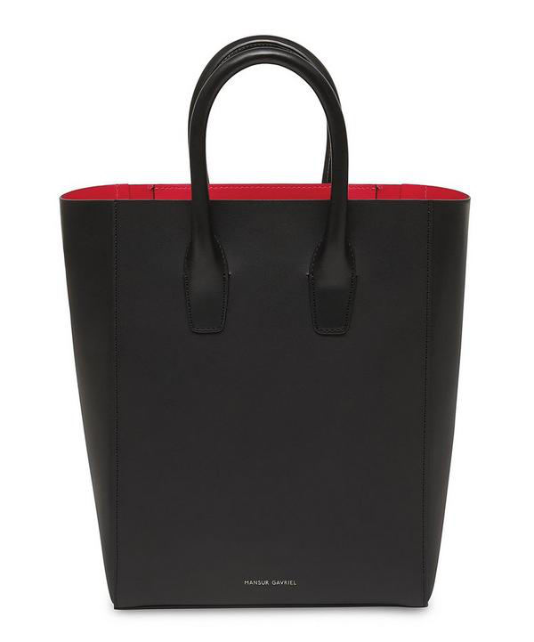 Mansur Gavriel New Smooth Leather Tote Bag In Black