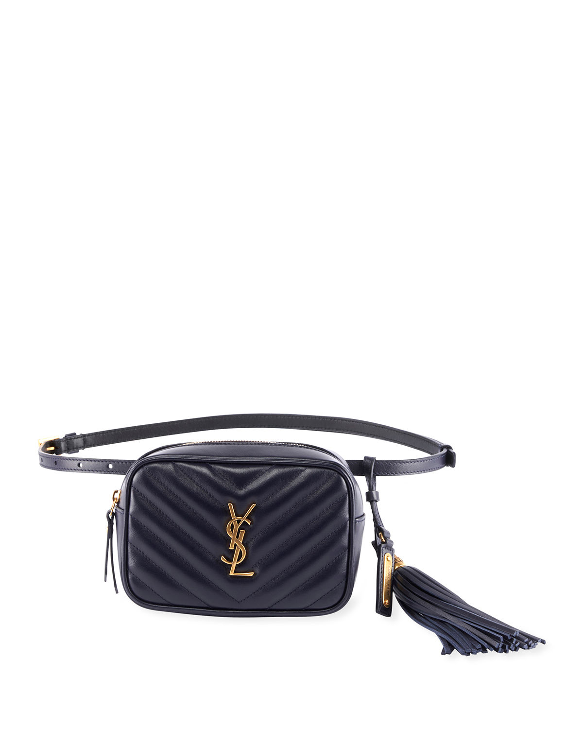 8829317d0 Saint Laurent Lou Monogram Ysl Quilted Leather Belt Bag In Navy ...