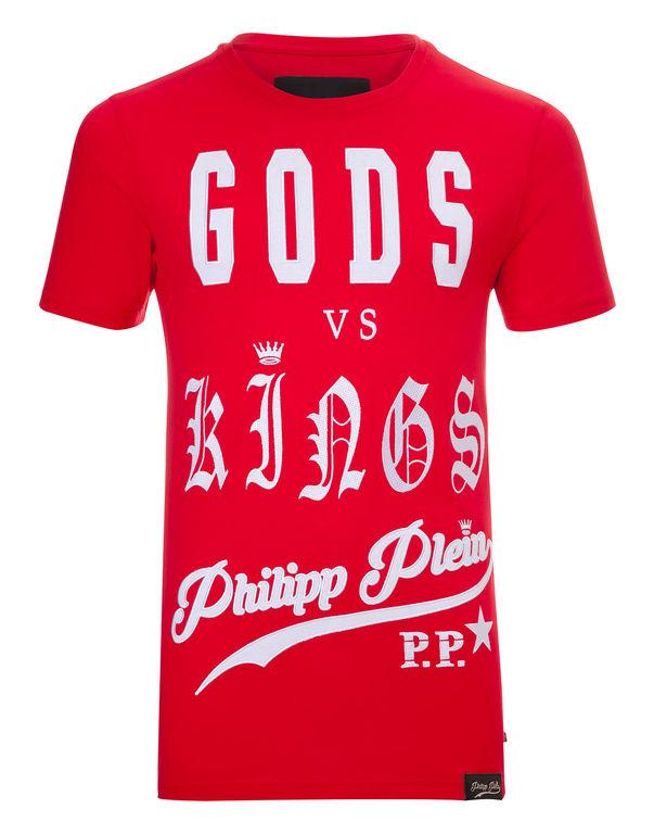 """Philipp Plein T-shirt Round Neck Ss """"versus"""""""