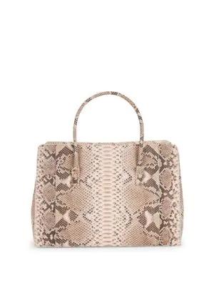 Nancy Gonzalez Python Leather Tote In Pink Python