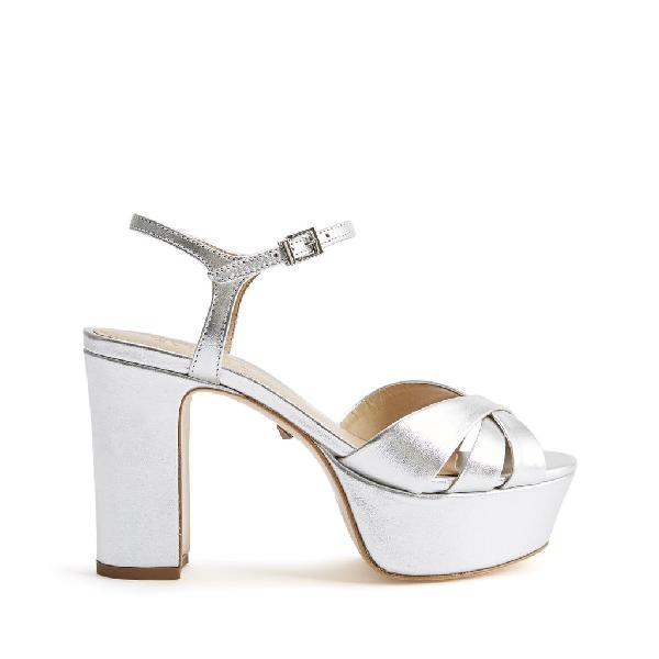 Schutz Women's Keefa High-Heel Platform Sandals In Prata Silver