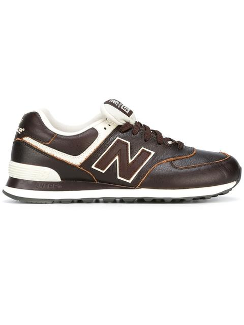 New Balance Lateral Logo Patch Sneakers In Brown