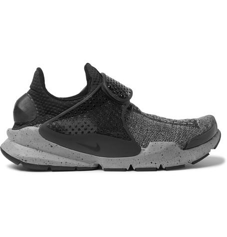 Nike Sock Dart Flyknit Premium Sneakers In Charcoal