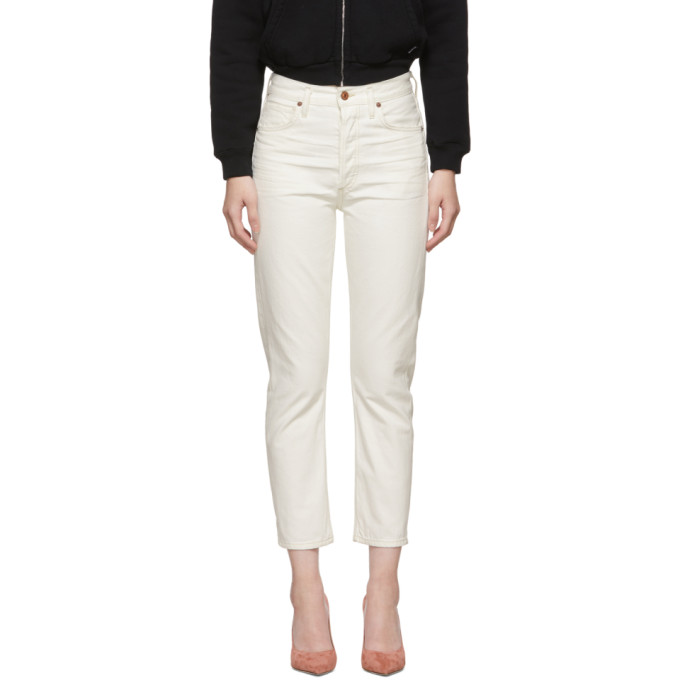 fe0316099677 Citizens Of Humanity White Charlotte Crop High-Rise Straight Jeans In  Heirloom