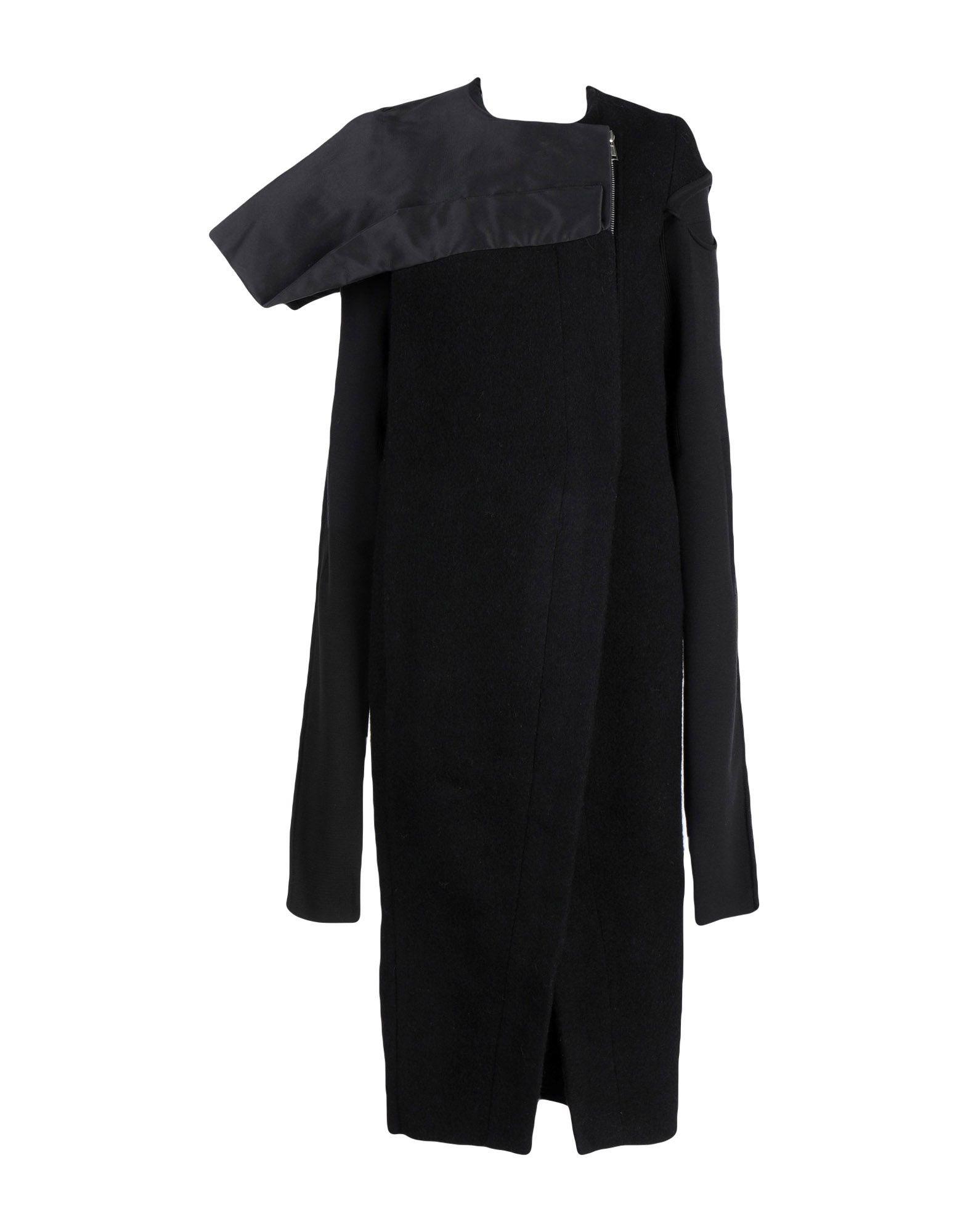 Rick Owens Coat In Black
