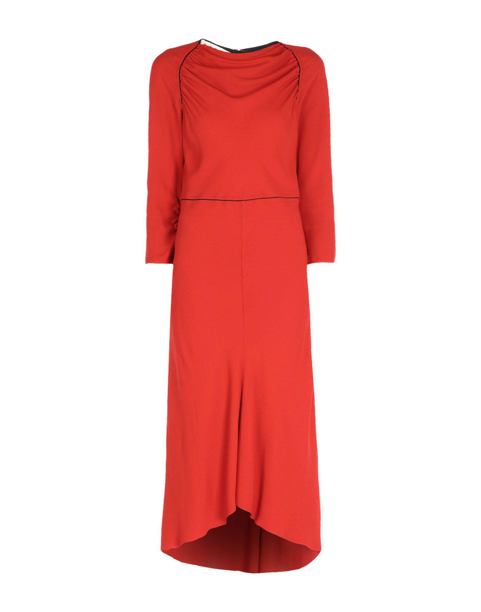 Marni Midi Dress In Red