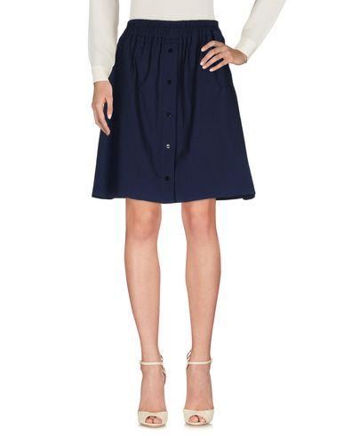 Carven Knee Length Skirts In Dark Blue