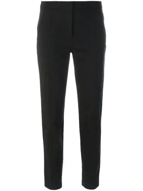 Tory Burch Stacey Cropped Flared Pants In 001 Black