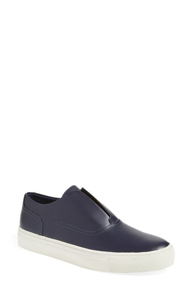 Vince 'Nelson' Laceless Oxford Skate Slip-Ons In Blue